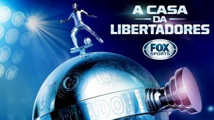 Logotipo do Fox Sports com a Taça Libertadores da América
