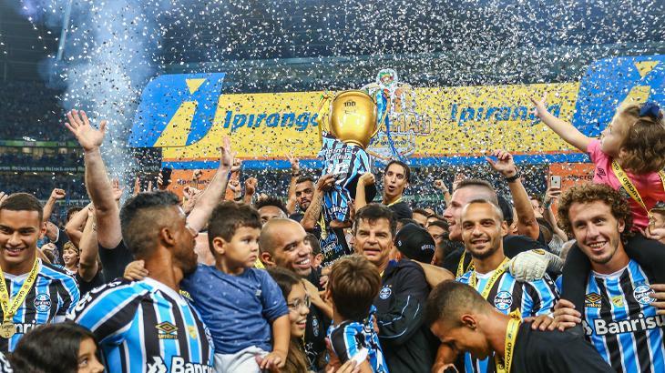 Vitória do Grêmio, pelo Gauchão, teve a maior audiência dentre as finais no país - Lucas Uebel/Gremio FBPA