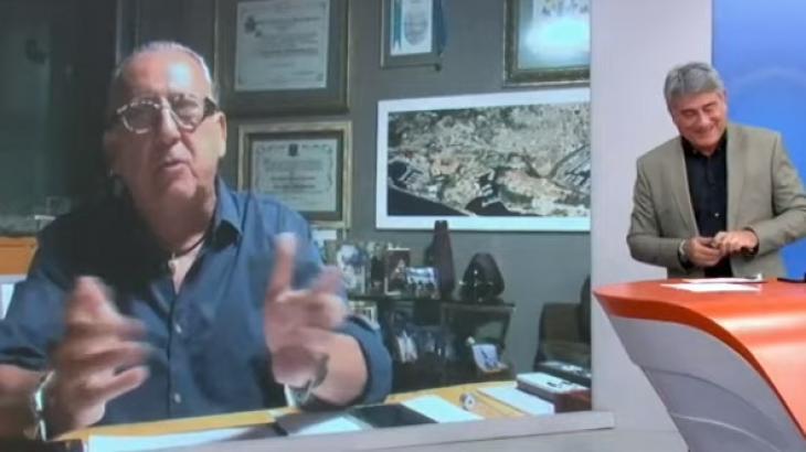 Galvão Bueno apareceu no Bem Amigos de casa na última segunda - Reprodução/SporTV