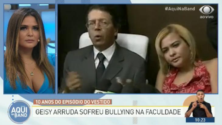 Geisy Arruda relembrou caso que ficou famosa em 2009 - Reprodução/TV Bandeirantes