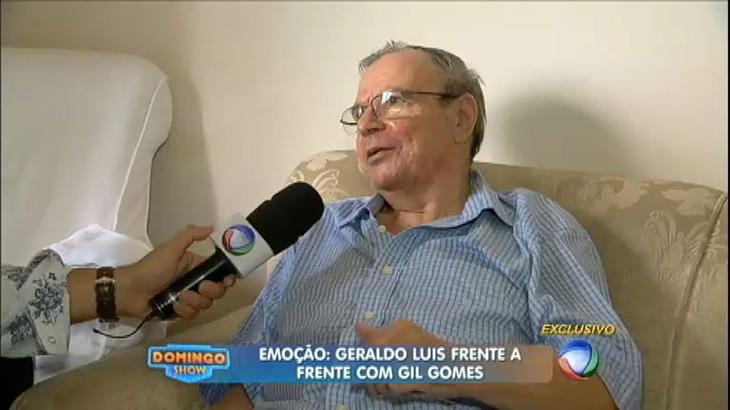 Uma das últimas aparições de Gil Gomes na TV, em 2014 - Reprodução/Record TV