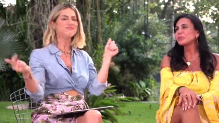 Gretchen ao lado de Giovanna Ewbank em seu canal - Reprodução/YouTube