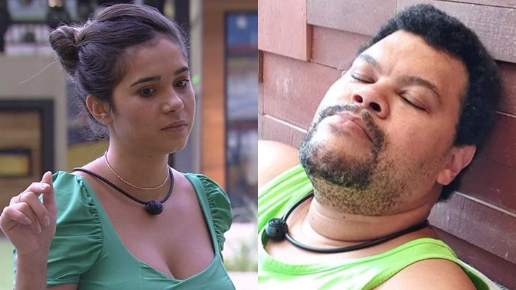 Gizelly e Babu Santana durante o BBB20