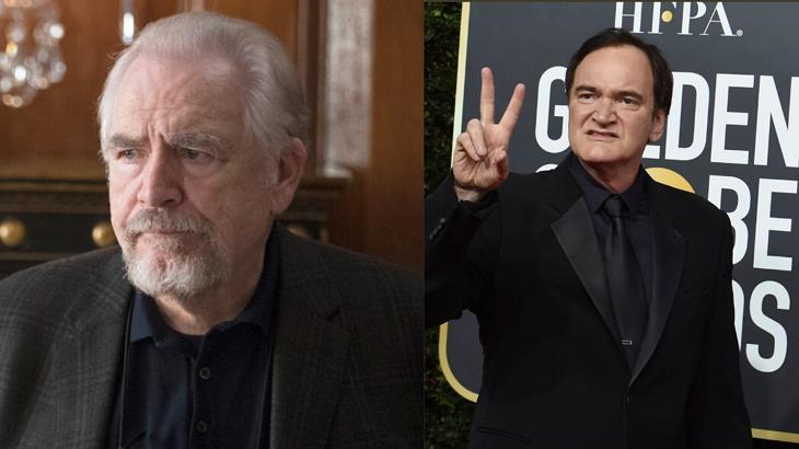 Brian Cox e Tarantino venceram o Globo de Ouro - Foto: Montagem