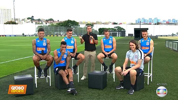 Jogadores do Corinthians participaram de programas esportivos