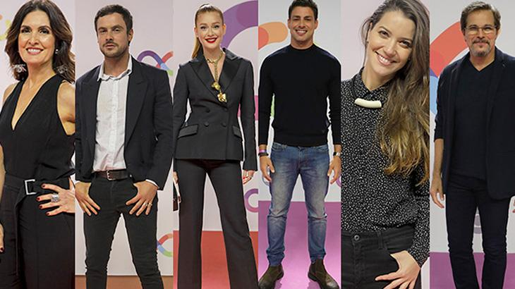 Famosos desfilam seus looks em festa de inauguração dos novos estúdios da Globo