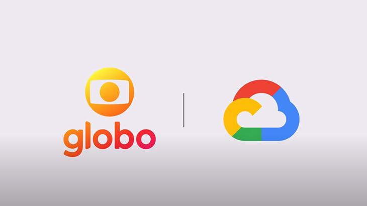 Logotipo da Globo e do Google Cloud