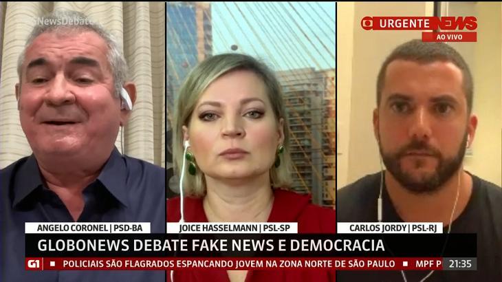 Deputados debateram ao vivo - Foto: Reprodução/GloboNews