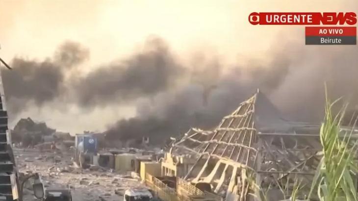 GloboNews cobriu explosão em Beirute - Foto: Reprodução