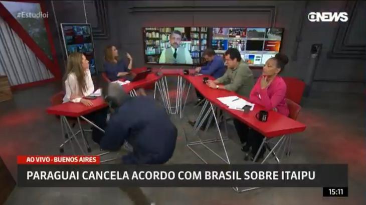 Produtor aparece na Globonews e apresentadora comenta: