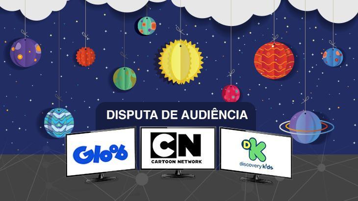 Arte do NaTelinha com os logos dos três canais