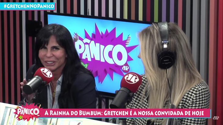 Gretchen participou do Pânico no Rádio. Foto: Reprodução/Youtube