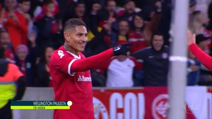 Guerrero fez o gol do Internacional - Foto: Reprodução/Globo