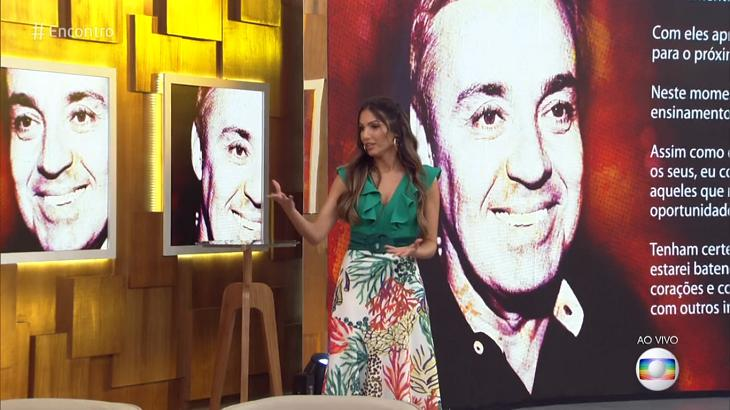 Patrícia Poeta falou de Gugu Liberato no Encontro. Foto: Reprodução