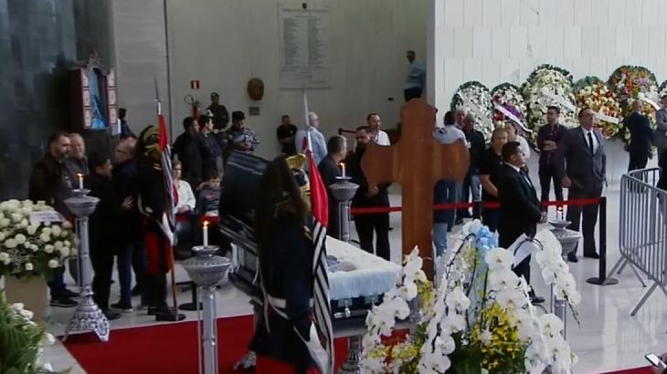 Velório de Gugu - Foto: Reprodução/Globo