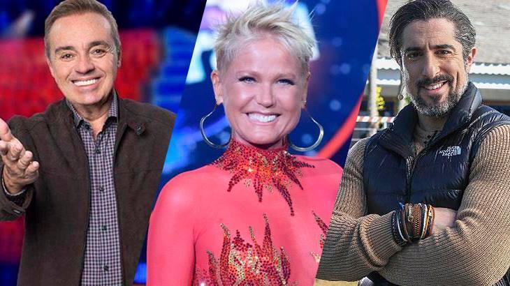 Gugu, Xuxa e Marcos Mion: apresentadores deram adeus aos programas de auditórios tradicionais - Fotos: Divulgação/Record TV