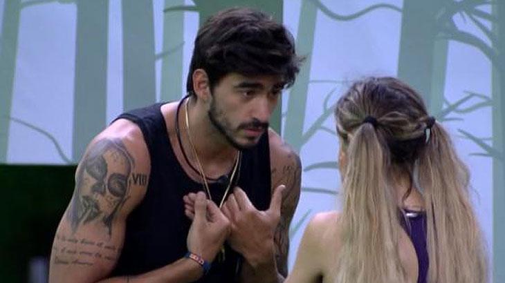 Gabi e Guilherme durante o reality show BBB20