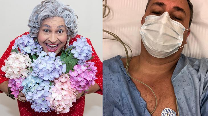 Ator que faz a Tia da Gazeta sente dores no peito e é hospitalizado às pressas