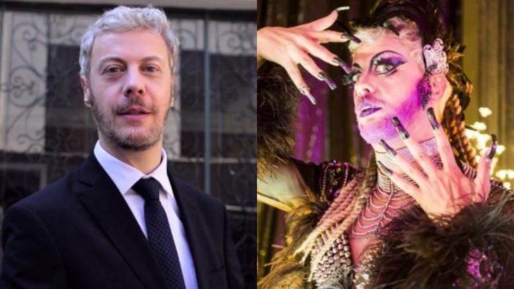 Guilherme Weber como Douglas e Brigitta em Pega Pega, novela que será reprisada na Globo às 19h