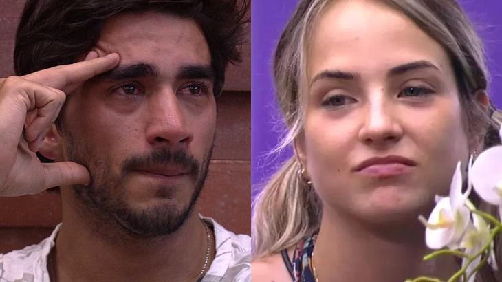 Guilherme chorou e desabafou sobre a postura de Gabi Martins no BBB20 - Foto: Globo/Montagem