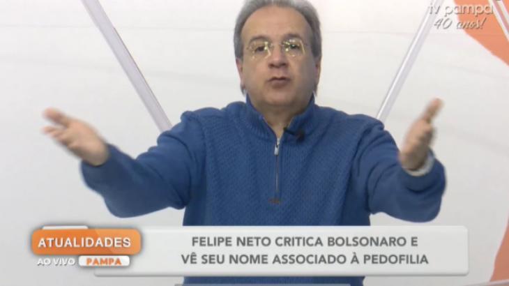 Gustavo Victorino esbravejando