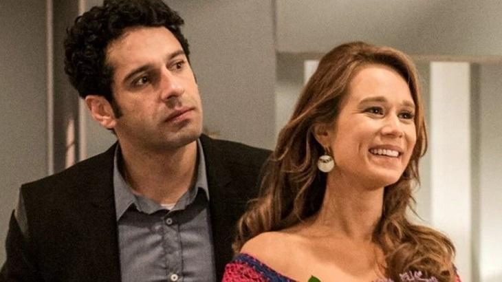 Mariana Ximenes e João Baldasserini em Haja Coração