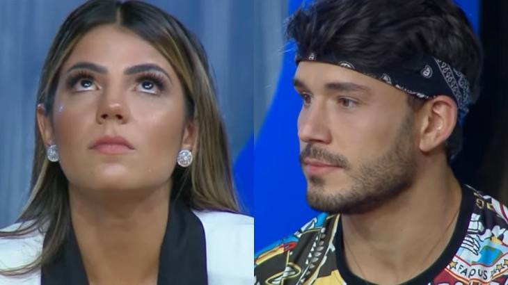 Hariany Almeida e Lucas Viana terminaram namoro no reality show A Fazenda 2019 (Reprodução/Montagem)