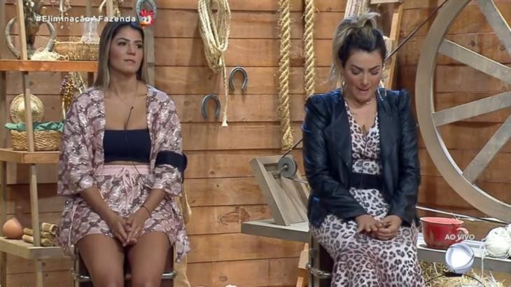 Hariany Almeida e Thayse Teixeira disputaram a décima roça no reality show A Fazenda 2019 (Reprodução/Montagem)