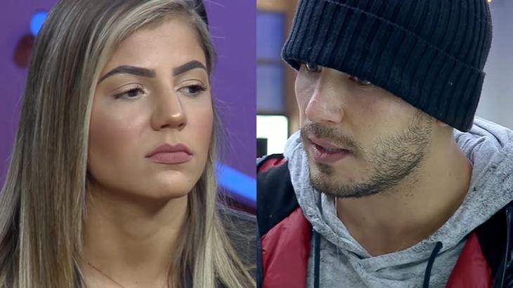 Hariany ficou irritada com atitude de Lucas no reality show A Fazenda 2019. (Reprodução/Montagem)