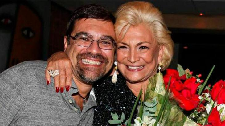 Hebe Camargo e o filho Marcelo