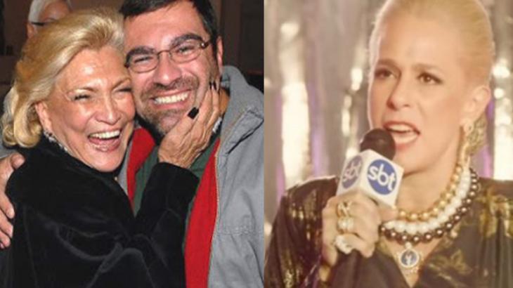 Marcello Camargo está contestando cena do filme da sua mãe, a apresentadora Hebe Camargo - Foto: Montagem
