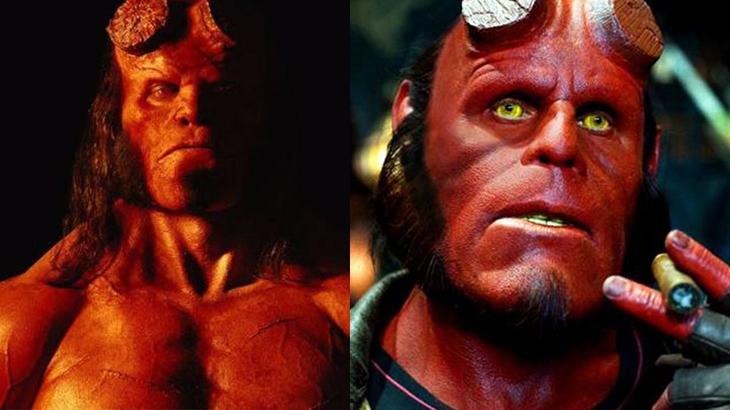 Hellboy teve duas versões no cinema - Fotos: Divulgação