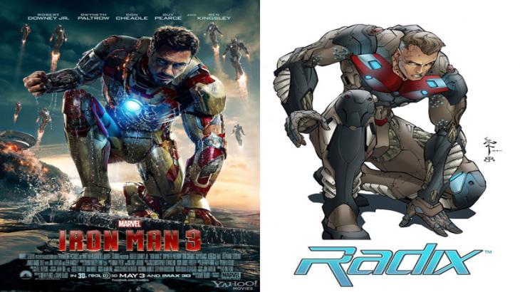 """Marvel sofre ação de plágio por cartaz do filme \""""Homem de Ferro 3\"""""""