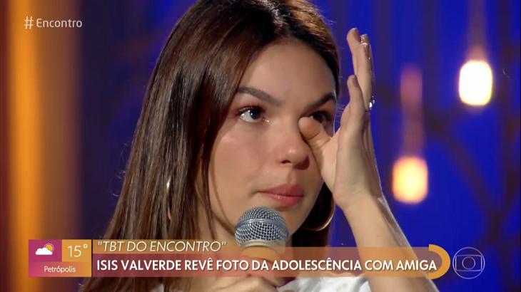 Isis Valverde chorou no programa - Foto: Reprodução/Globo