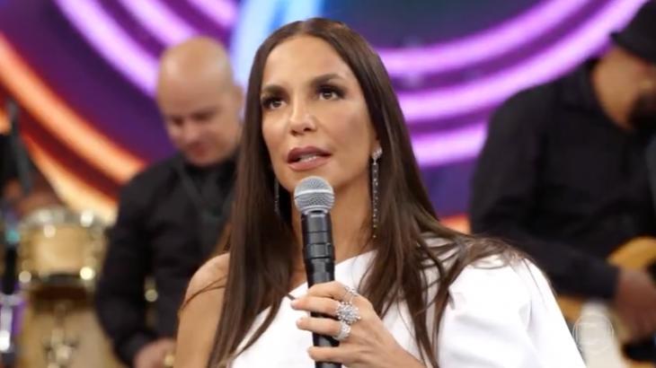 A cantora Ivete Sangalo falou sobre traição no Domingão do Faustão, da TV Globo