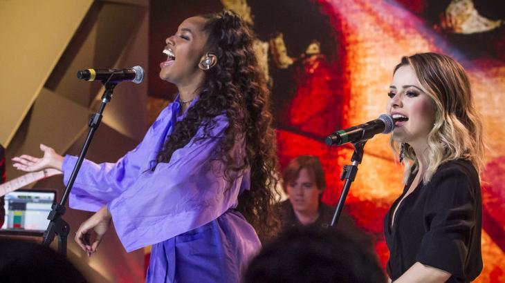 Sandy e Iza gravam parceria inédita - Foto: Reprodução
