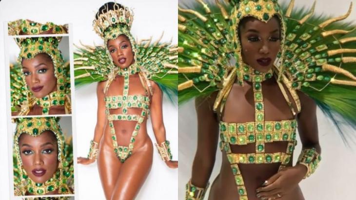 Iza roubou a cena no desfile da Imperatriz Leopoldinense - Instagram/Reprodução