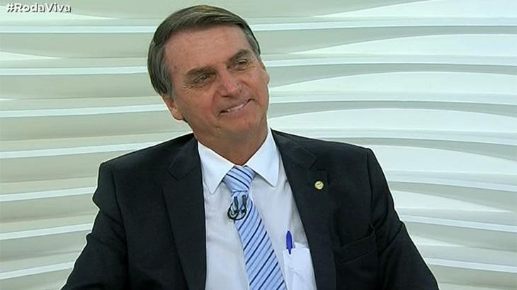 """""""Roda Viva"""" com Jair Bolsonaro tem grande audiência na TV, no YouTube e no Facebook"""