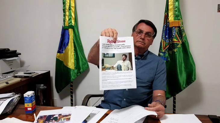 O presidente Jair Bolsonaro rebate acusação de Danilo Gentili (Foto: Reprodução/Facebook/Jair Messias Bolsonaro)