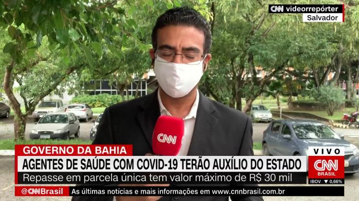 O repórter Jhonatã Gabriel, da CNN Brasil