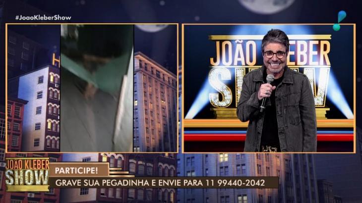 João Kleber Show, programa da RedeTV!, exibe pegadinhas caseiras