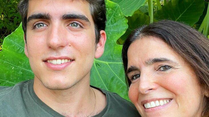 João Mader e Malu Mader sorridentes em foto