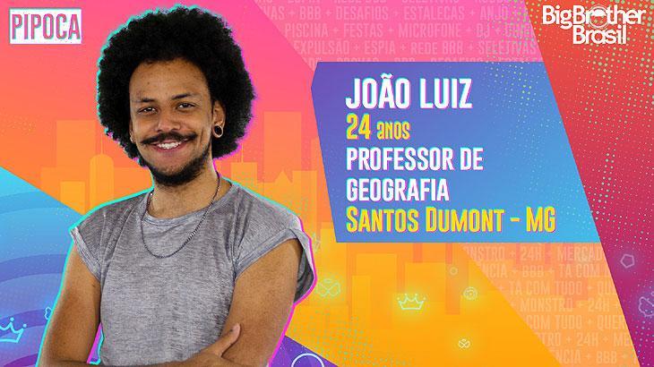O professor de Geografia João Luiz, de 24 anos, é mineiro da cidade de Santos Dumont