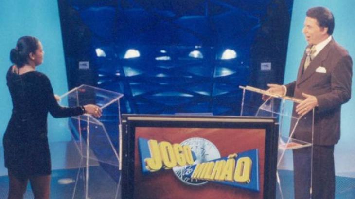 Silvio Santos em 1999, ainda no Jogo do Milhão - Divulgação/SBT