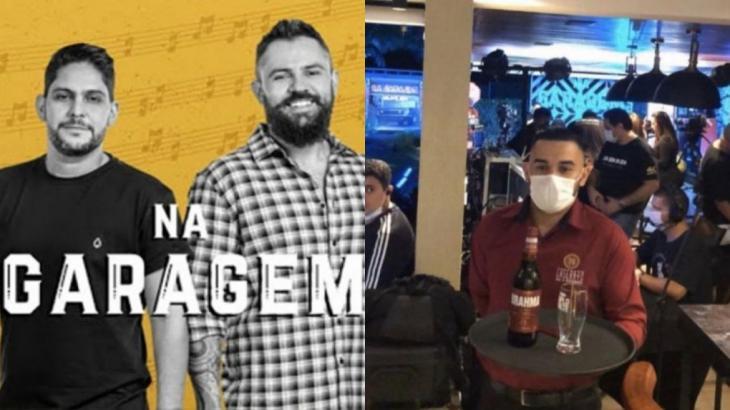 Com show Na Garagem, Jorge e Mateus foram acusados de promover aglomeração - Fotos: Reprodução