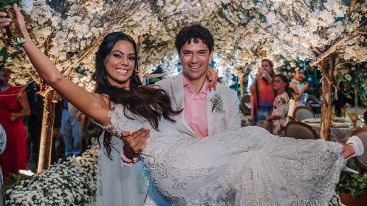 Jorge se casou com Martha em abril, em uma cerimônia cinematográfica - Nayara Andrade/Divulgação