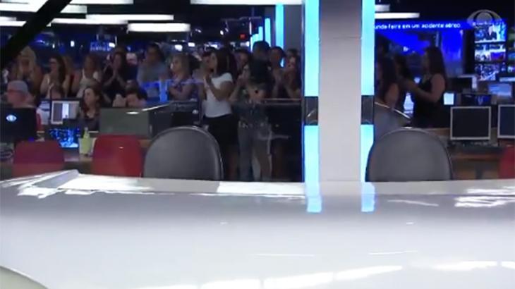 Bancada do Jornal da Band vazia