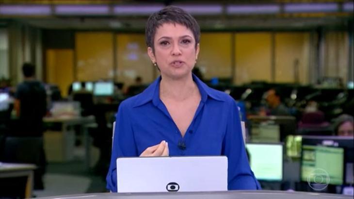 """Por """"boa tarde"""", Sandra Annenberg criou saia justa com Carlos Nascimento no Jornal Hoje"""