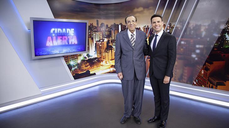 Ney Gonçalves Dias e Luiz Bacci no cenári do Cidade Alerta