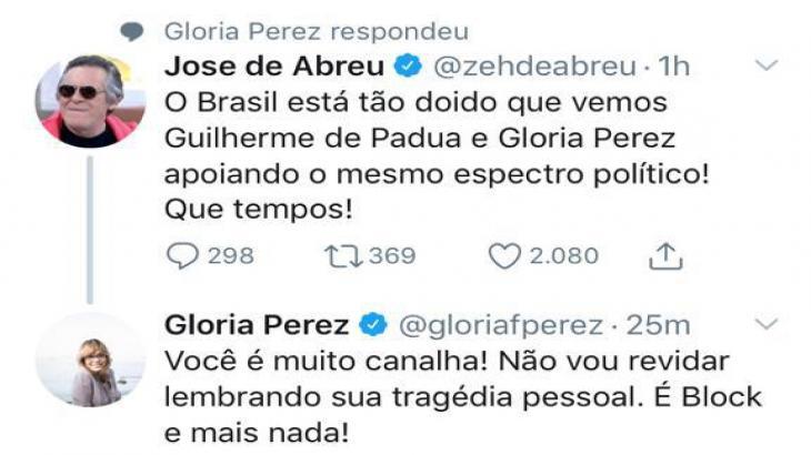 """Após polêmica com Gloria Perez, Danilo Gentili detona José de Abreu: \""""Extremamente canalha\"""""""